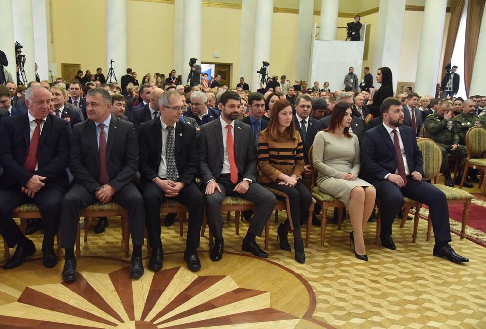Денис Пушилин посетил церемонию инаугурации Главы ЛНР Леонида Пасечника