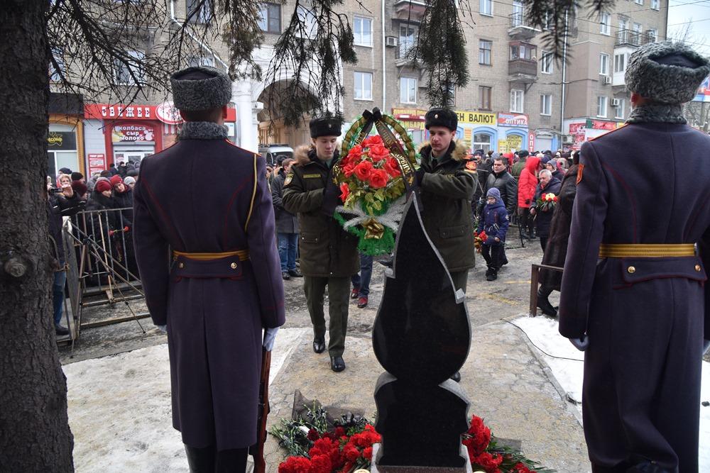 Глава ДНР Денис Пушилин принял участие в митинге памяти по погибшим мирным гражданам Республики
