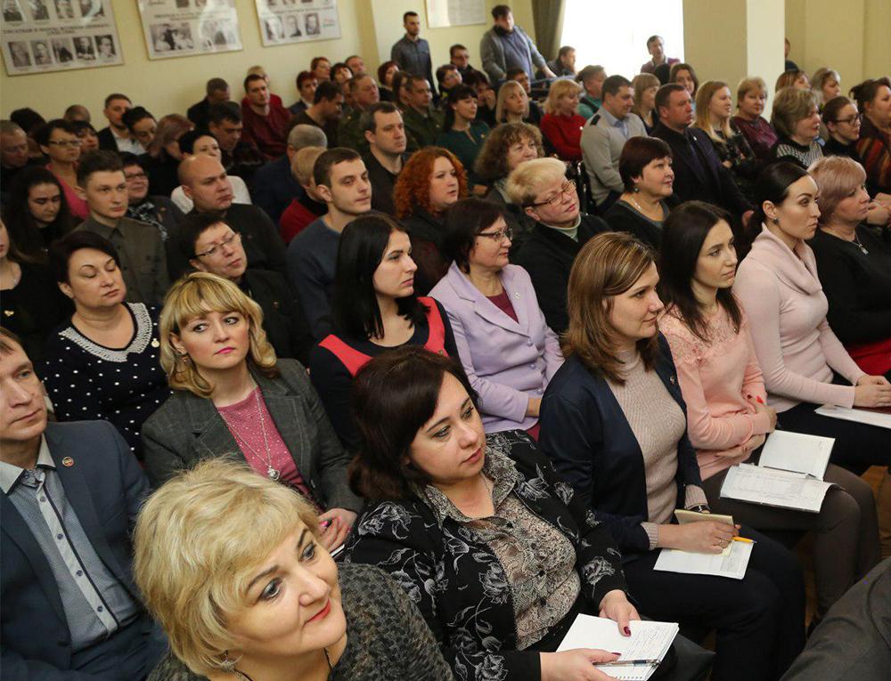 «Мы должны действовать одной командой»: Глава ДНР Денис Пушилин встретился с активом ОД «Донецкая Республика»