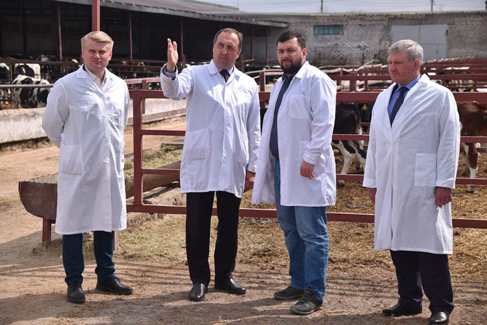 Глава ДНР Денис Пушилин ознакомился с работой агрофирмы «Горняк»