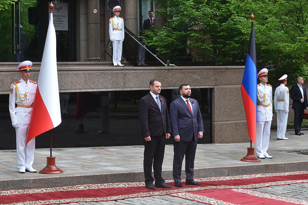 Глава ДНР Денис Пушилин встретился с иностранными делегациями, прибывшими для участия в торжествах ко Дню Республики