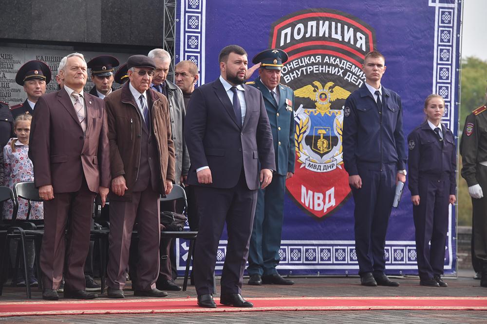 Глава ДНР Денис Пушилин посетил церемонию приведения к присяге курсантов Донецкой академии внутренних дел