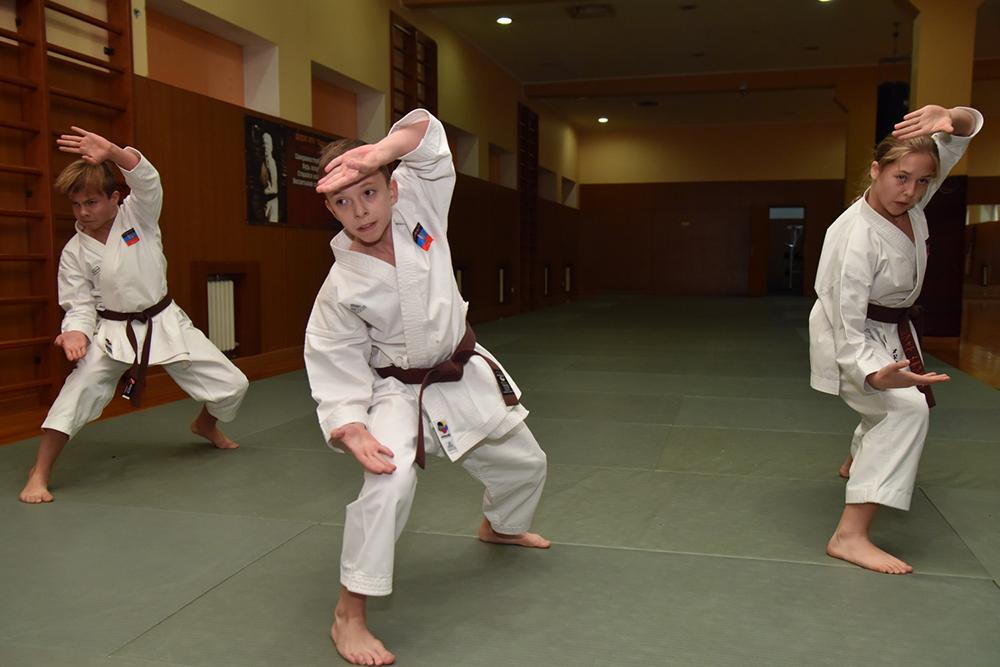 Глава ДНР Денис Пушилин посетил тренировку победителей Кубка мира по карате KWF