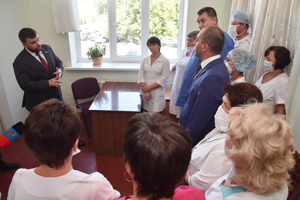 Глава ДНР Денис Пушилин посетил с инспекцией узловую больницу станции Иловайск